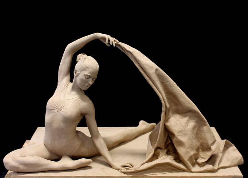 Clay original of The Dancer by Benjamin Victor.