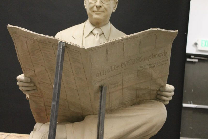 Clay original of Senator Richard Bryan, Reno, Nevada.
