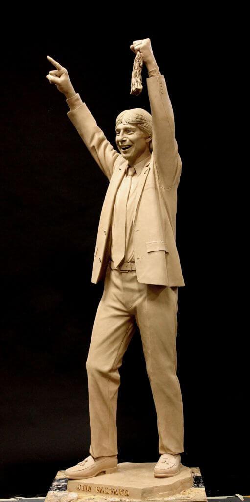 Clay original of NC State Basketball Coach Jimmy Valvano