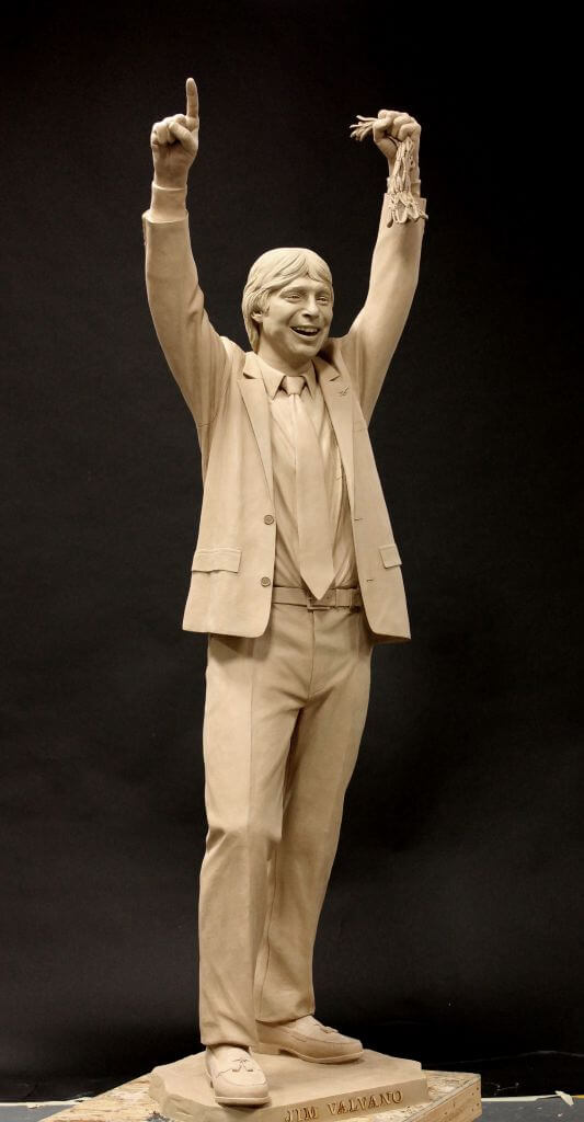 Clay original of NC State Basketball Coach Jimmy Valvano