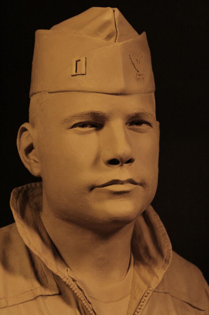 Bronze bust of Lt. Jack Rittichier